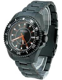 Nautec No Limit BC 8215/IPBK - Reloj de caballero automático, correa de acero inoxidable color negro