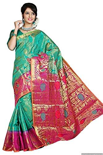 Kanchipuram Art Silk Saree(D.no-117-Rama)