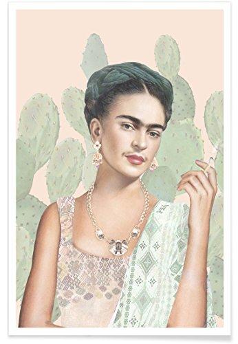 """JUNIQE® Poster 20x30cm Frida Kahlo - Design """"Couture Mexicaine"""" (Format: Hoch) - Bilder, Kunstdrucke & Prints von unabhängigen Künstlern entworfen von Nettsch"""