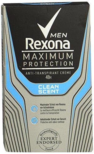 Rexona Maximum Protection Clean Scent Men, Anti-Transpirant Cremestick für langanhaltende Frische 48-Stunden-Schutz, 1 Stück (1 x 45 ml) -