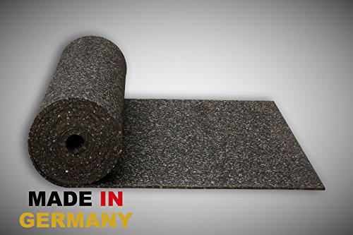Gummimatte Anti-Vibrationsmatte Antirutschmatte 200 x 125 x 1 cm (Marke: Szagato) (Bautenschutzmatte Gummigranulatmatte Kofferraummatte)