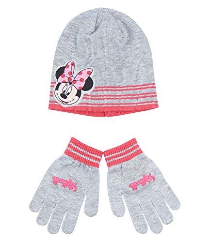 Disney Minnie Ragazze Confezioni 2 pezzi: berretto e guanti - grigio - 52