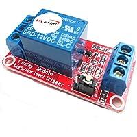 hiletgo® 2pcs 12V 1módulo de relé de canal con opto aislamiento apoyo alto o bajo nivel disparador