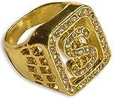 WIDMANN 2112P?Anillo dorado con brillantes y símbolo del dólar, talla única