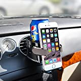 BESTEK Smart Drink & Phone Clip-on Holder COMBO Car Air Vent Mount Soft