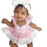 Jimmackey Bebé Niño Niño Traje de Niño Vestido de Princesa y Cinta de Verano (6-12 Meses, Rosado)