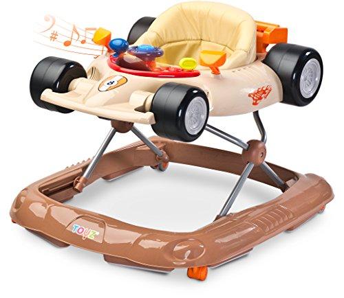 Toyz  - Caretero Speeder Lauflernhilfe Gehhilfe Laufhilfe mit Spielcenter, Beige