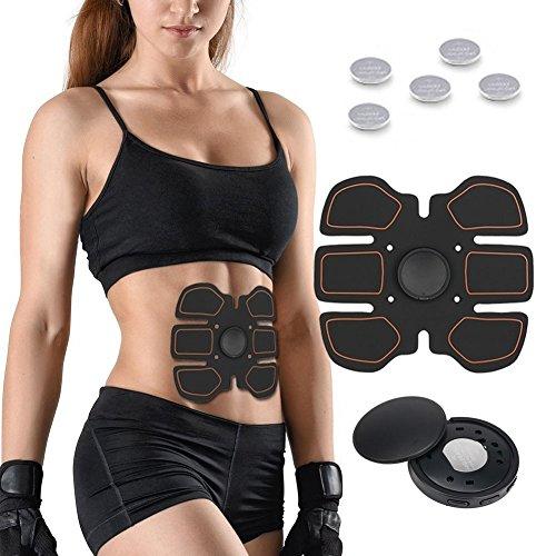 081 store elettrostimolatore addominali, fascia addominale dimagrante stimolatore muscolare per donna/uomo training perdita di peso fitness di selenechen