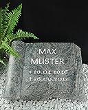 Grabstein Urnenstein Buch inkl. Inschrift
