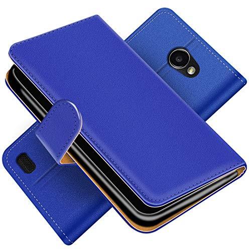 Conie Handytasche für LG Bello 2 Cover Schutzhülle im Bookstyle aufklappbare Hülle aus PU Leder Farbe: Blau