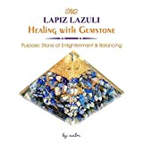 Aatm Energy Generator Lapis Lazuli Orgone Pyramid for EMF Protection Chakra Healing Meditation with Crystal and Copper (3 and 3 Inches)