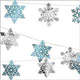 30m décoration de Noël - Guirlande Flocons de neige - en aluminium
