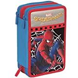Trade shop traesio Etui Complet 3 Zip Spiderman, accessoriato Enfants école