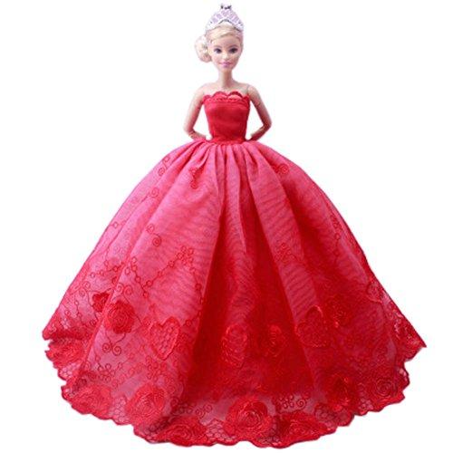 öne Prinzessin-Hochzeits-Kostüm-Partei-Abend-Kleid-Puppen-Kleid-Oben Kostüm-Geschenk-Idee, G ()