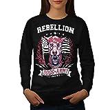 Chien Armée Combattant Animal Femme L Sweat-shirt | Wellcoda