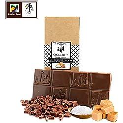 Chocolate con leche artesano caramelo y flor de sal