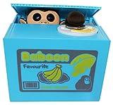 Srovfidy bambini 's Cartoon lattine di risparmio salvadanaio elettrico risparmio monete vasi, 1PCS Blue monkey, taglia unica