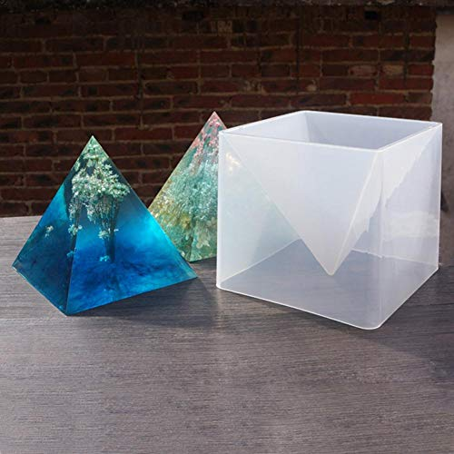 3d-epoxy (sanguiner 3D Silikonform Super Pyramide 15 cm DIY Ornament Epoxy Farbe Feine Form Gips Handwerk Dekoration Form)