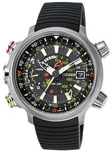 Montre Homme Citizen Quartz - Affichage Analogique bracelet Plastique noir et Cadran Noir BN4020-05E