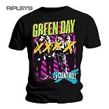 GREEN DAY-Maglietta ufficiale Neon HYPNO a 4 bande Cuatro, tutte le misure nero XX-Large
