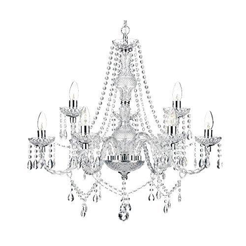Saint Mossi 2-Tier Moderne Moderne Elegant Kristall Glas Kronleuchter Anhänger Deckenbeleuchtung - 9 E14 Lichter (2-licht-anhänger Kristall)
