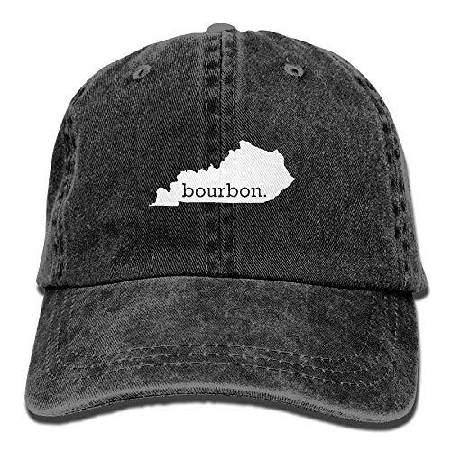 KKAIYA Kentucky Bourbon Vintage Washed Dyed Cotton Adjustable Denim Cowboy Cap