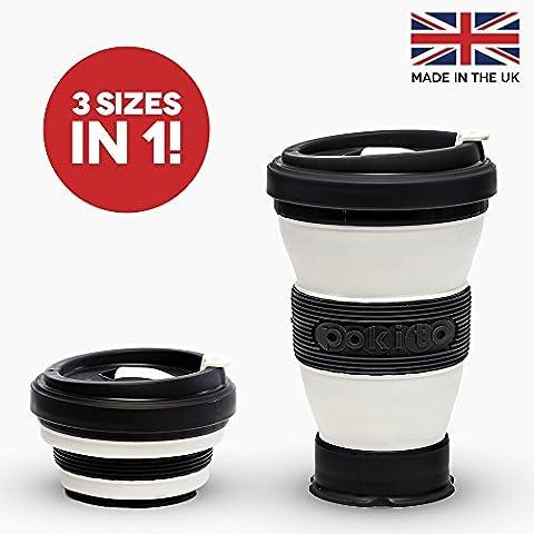 Black Collapsible Coffee Cup - A Reusable Folding Travel Mug