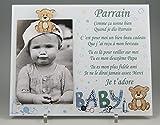 Best Cadeau Boutique Cadres photo - Cadre Photo - modèle Bleu pour Parrain – Review