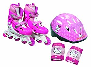 D'Arpège Hello Kitty See-through Bag Helmet Inline Skates Hello Kitty Protective pads