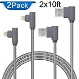 iPhone Lightning Cable, Lightning Cable 10ft, Braided Lightning Cable for iPhone X/8/8 Plus/7/7 Plus/SE/6s/6 Plus/6, iPad Air 2, iPad Pro and More(Gray 10ft)