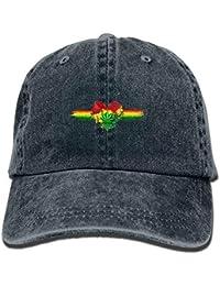e69c8cf1a20b1 Rasta Weed Pot Adulto Deporte Gorra de béisbol Ajustable Sombrero de  Vaquero Verano Malla Transpirable Sol