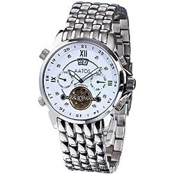 Aatos JaakkoSSWD Men's Automatic Stainless Steel Wrist Watch with 8 Diamonds