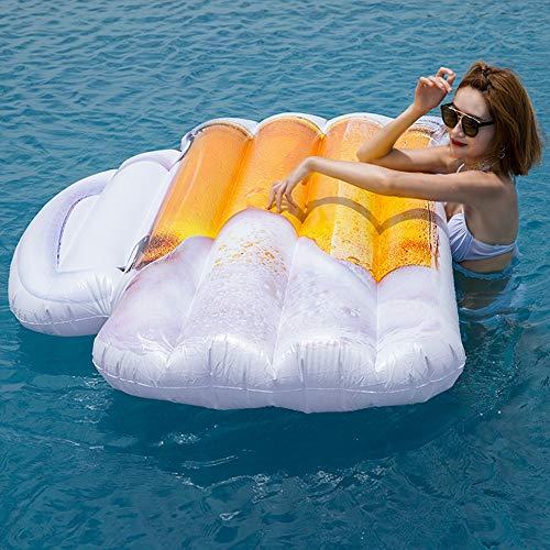 CIIY Schlauchboote Bier Tasse Schwimmende Reihe Erwachsene Kinder Wasser Mount Aufblasbare Schwimmende Reihe Große Schwimmende Bett Schwimmende Ausrüstung
