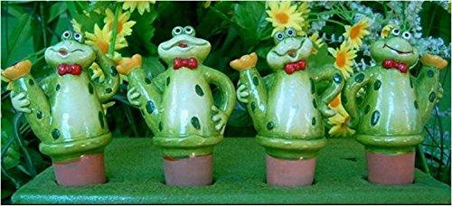 Wasserspender Set für Zimmerpflanzen Frosch mit Kanne 4er Set