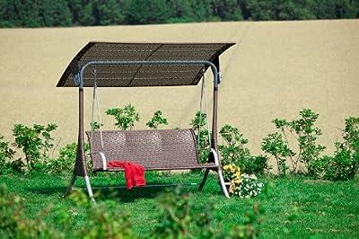 MERXX Hollywoodschaukel 3-sitzig, mit Kunststoffgeflecht von MERXX auf Gartenmöbel von Du und Dein Garten