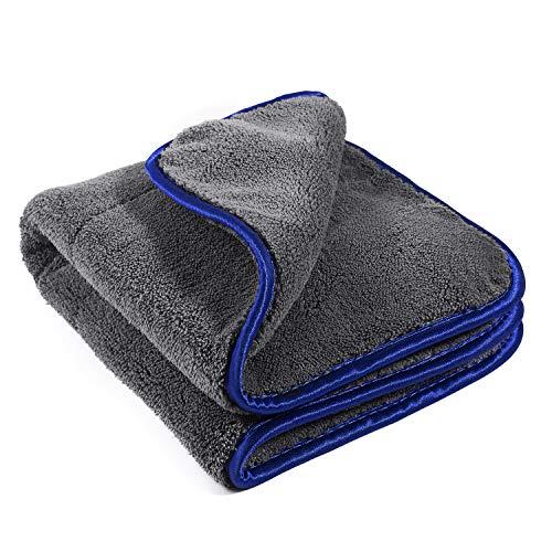 Geabon Auto Reinigungstücher 1200GSM Trocknen Handtuch 16,5 x19 Zoll -Mikrofaser Handtuch für Auto Reinigung, Politur, Wachs - Mikrofaser Reinigungstücher für Auto,Motorrad,Küche -