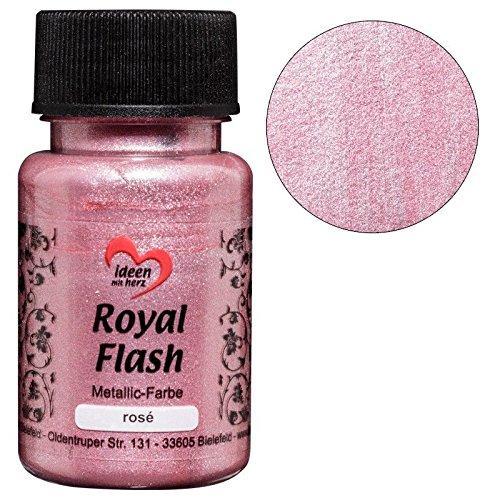 Royal Flash, Acryl-Farbe, metallic, mit feinsten Glitzerpartikeln, 50 ml (rosé) Royal Roses