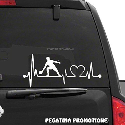Tischtennis Tischtennisspieler Herzschlag Aufkleber 30 cm Herzlinie Hobby Sticker Auto Lack Scheibe Autoaufkleber von Pegatina Promotion ®