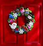 Christmas Toys Wreath Felt Applique Kit-16' Round