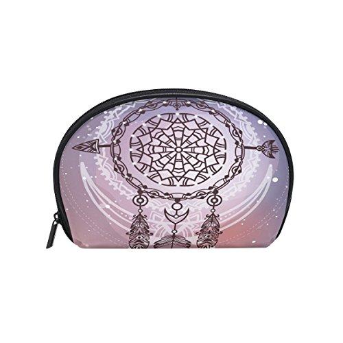 ALAZA Galaxy atrapasueños Media Luna, Bolsa de Aseo para cosméticos, Bolsa de Viaje, Bolsa organizadora para Mujeres y niñas