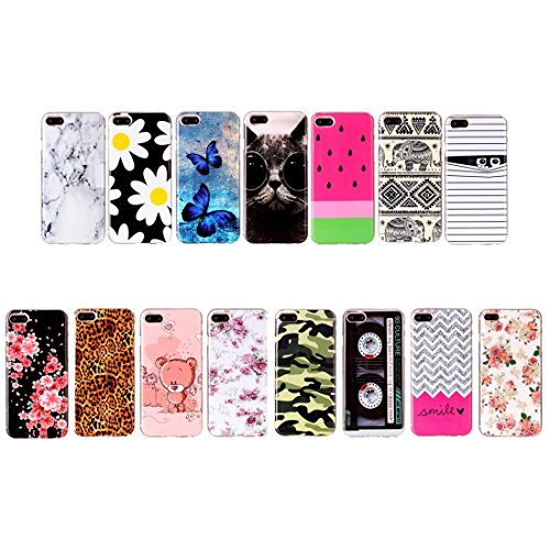 Hülle für iPhone 7 plus , Schutzhülle Für iPhone 7 Plus Bunte Streifen und schwarze Punkte Muster Soft TPU Schutzhülle Rückseite Cover Shell ,hülle für iPhone 7 plus , case for iphone 7 plus ( SKU : I IP7P2204K