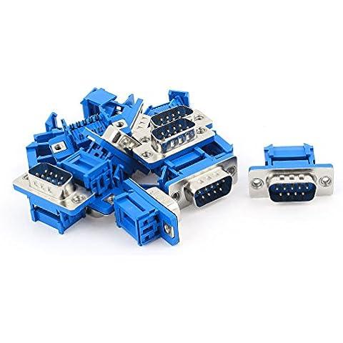 10 piezas D-SUB DB9 9 pin macho IDC Cable plano conectador de la encrespadura