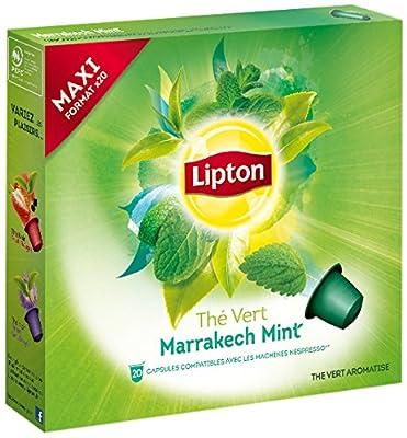 Lipton Coffret Thé Vert Marrakech Mint 20 Capsules 50 g - Lot de 3