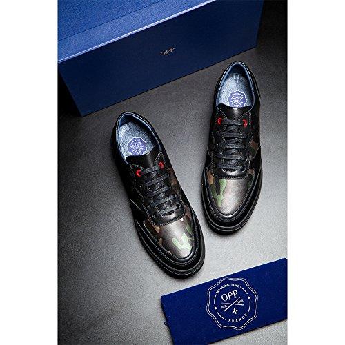 310c18f70460d ... OPP Herren Herbst handgemachte echte Kuh-Leder-Lace-up  Camouflage-Design Anti
