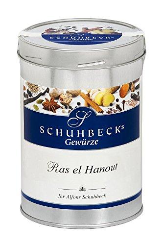 Schuhbecks Gewürze Ras el Hanout arabische Gewürzmischung, für Fisch, Fleisch, Geflügel, Gemüse & Reisgerichte, Gewürz ohne Salz, Menge: 1 x 425 g (Fisch Salz)
