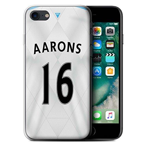 Offiziell Newcastle United FC Hülle / Gel TPU Case für Apple iPhone 7 / Mitrovic Muster / NUFC Trikot Away 15/16 Kollektion Aarons