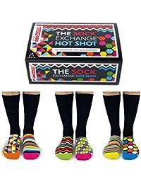 Sock Exchange Hot Shot - Box of 6 Mens Oddsocks - United Oddsocks UK 6-11