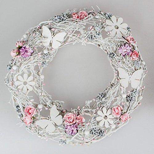 Formano Deko-Kranz, 36 cm, weiss-rosa