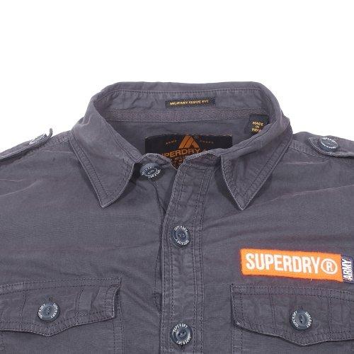 Superdry Herren Freizeit-Hemd Grau