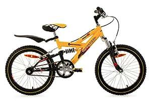 KS Cycling Kinder Fahrrad Mountainbike Krazy RH 30 cm, Gelb, 18, 804B